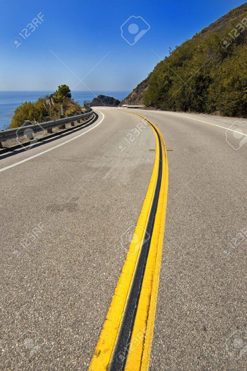 Pacific Coast Highway - Highway 1, California. The coastal highway between Los Angeles and San Francisco. Stock Photo - 7526768