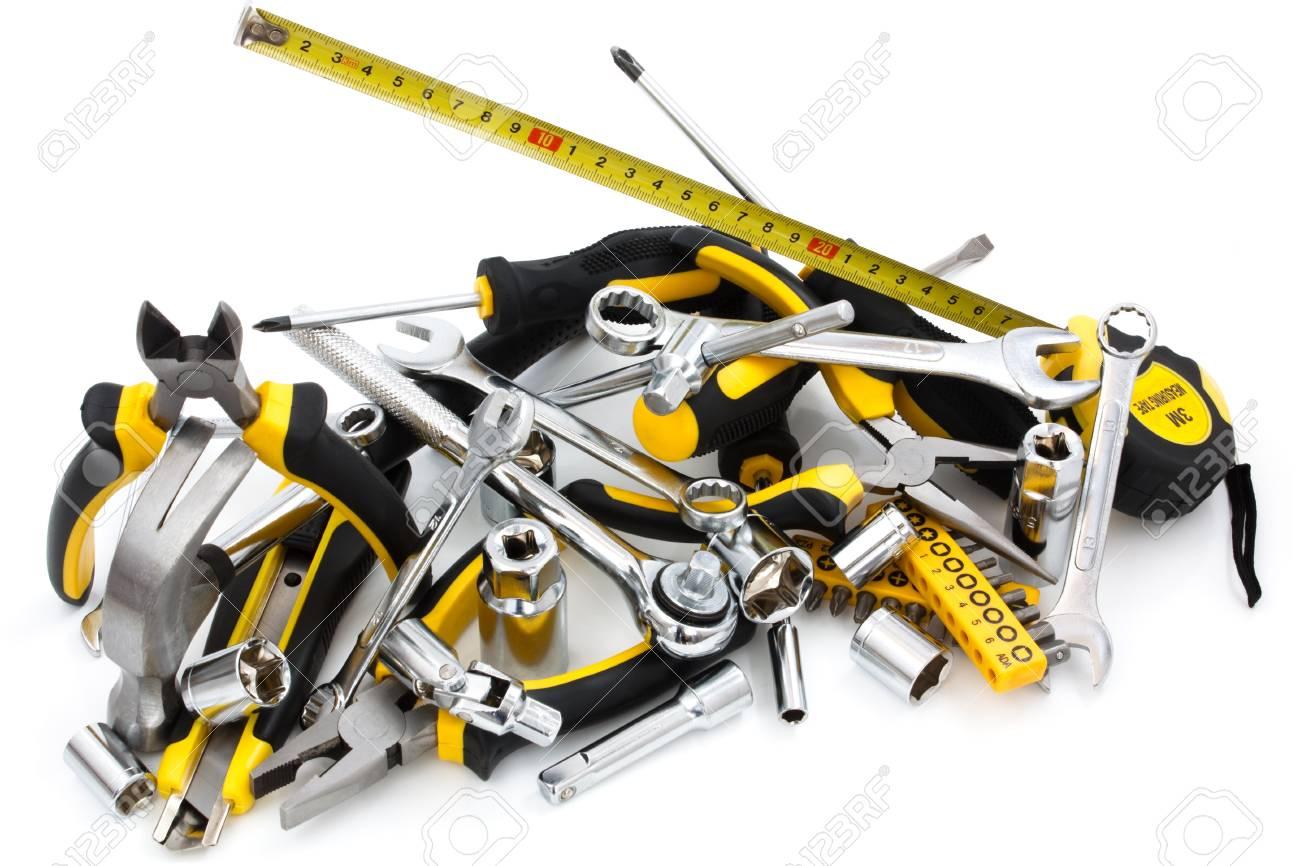 work tool heap on white background Stock Photo - 8933225