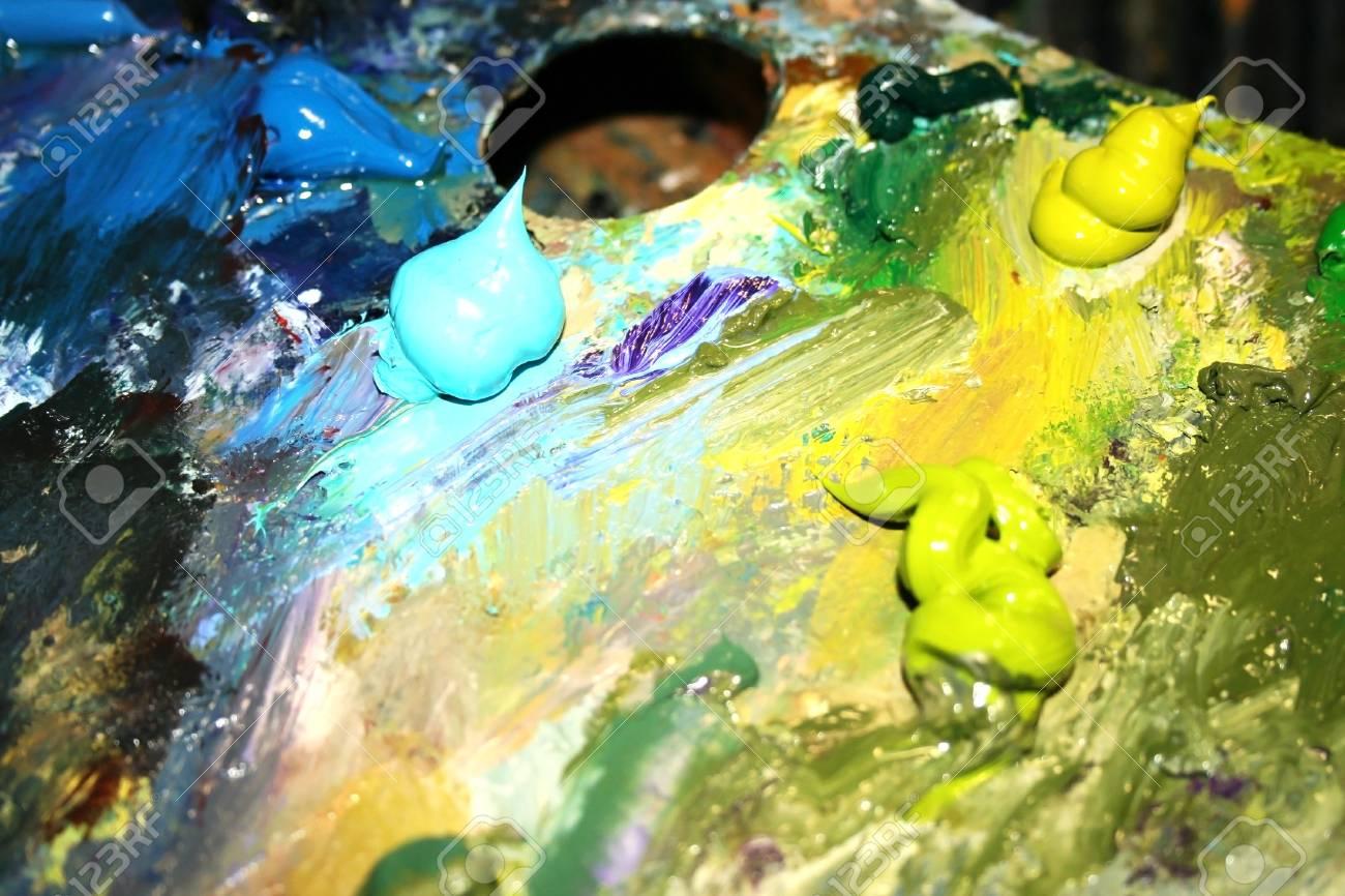 Artists oil paints Stock Photo - 4527313