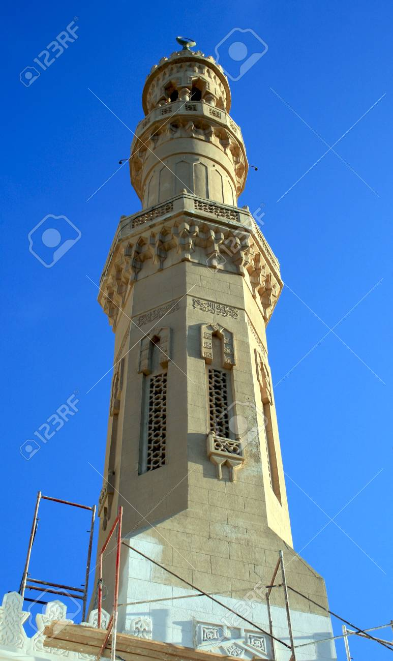 Muslim church in the forests of restorations in center Hurghada,Egypt Stock Photo - 4614377