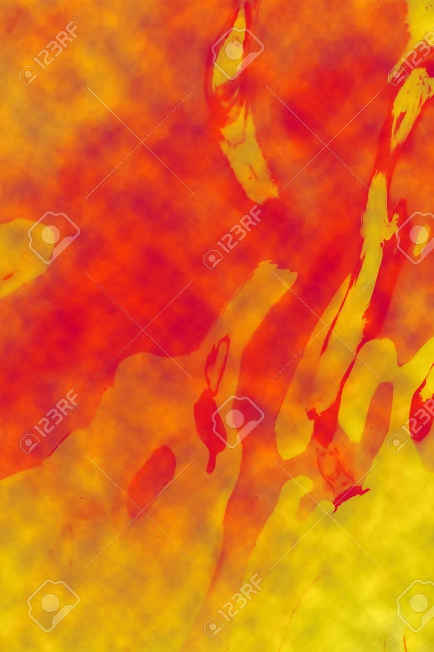 Abstract orange painting Stock Photo - 6051988
