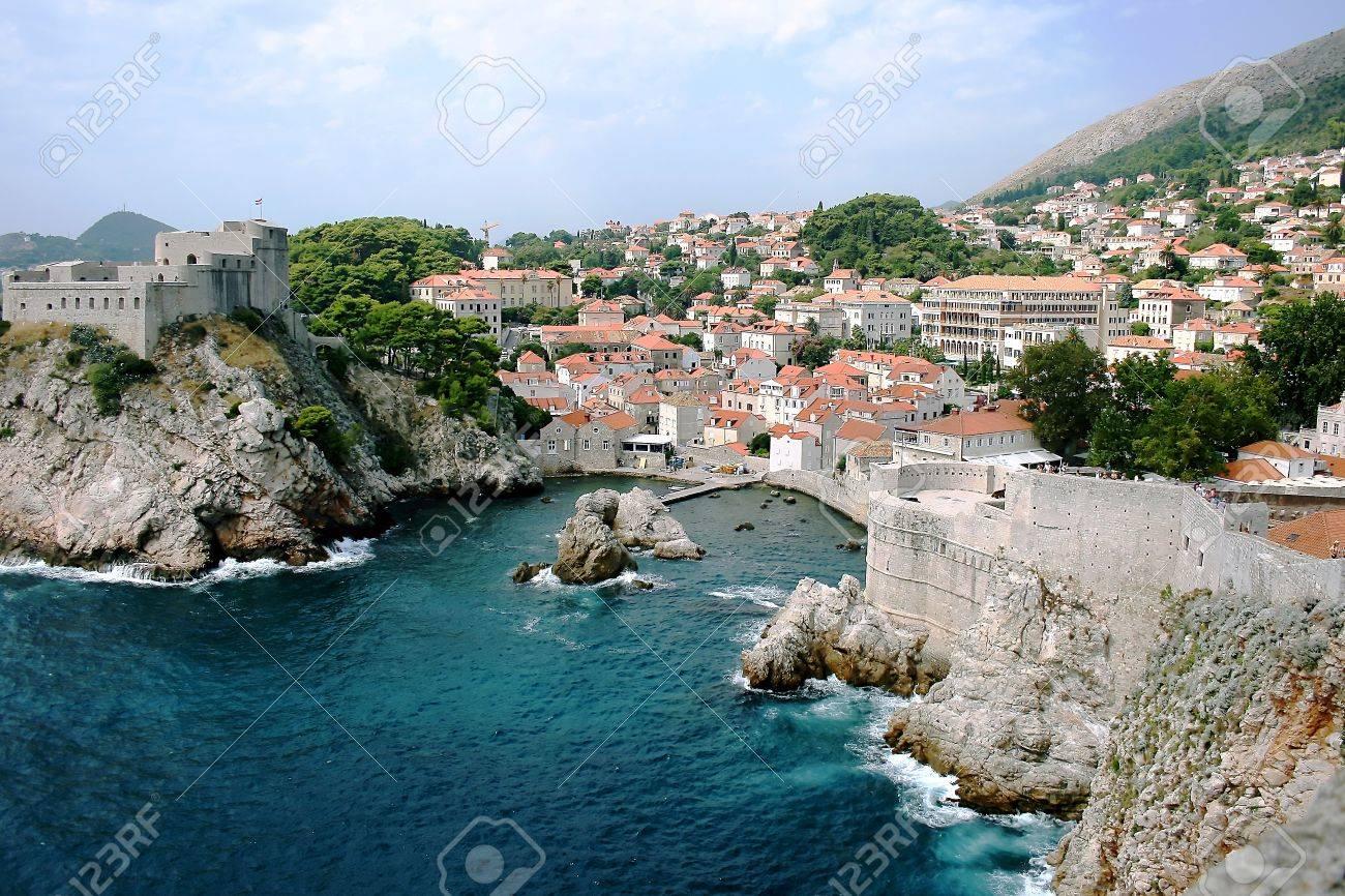 Dubrovnik Old City on the Adriatic Sea in Croatia, South Dalmatia region Stock Photo - 10617755