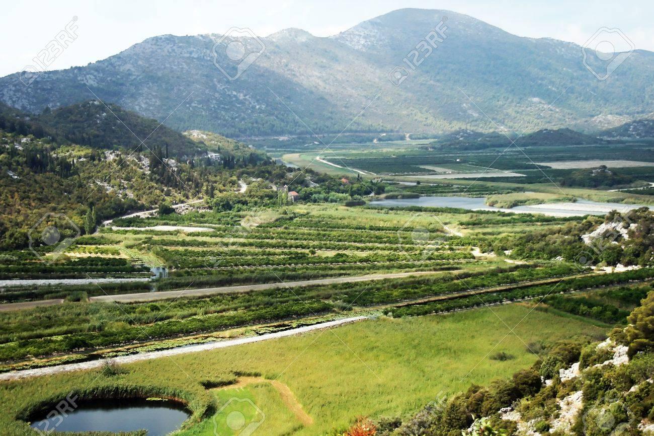 クロアチアの穀倉地帯、ネレトバ...