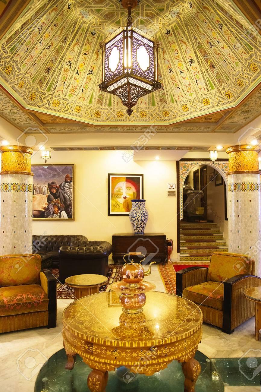 Tradition Arabic Lobby Interior Of The Luxury Hotel In Casablanca  # Muebles Casablanca