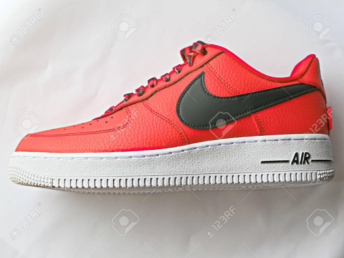 Tokyo, Japan 21, 2018: Nike Air Force 1 Low 07 NBA. Nike Sneaker..