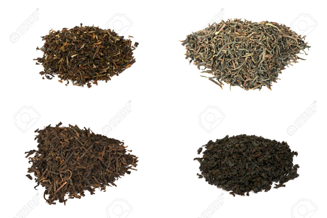 Four Types Of Black Tea Stock Photo Picture And Royalty Free Image
