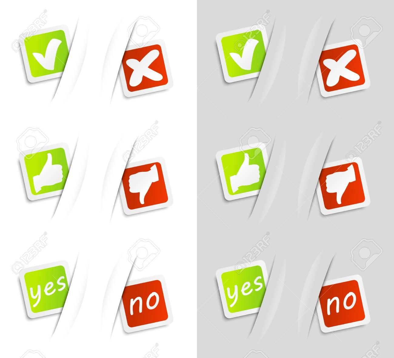 Set of voting stickers Stock Vector - 14728885