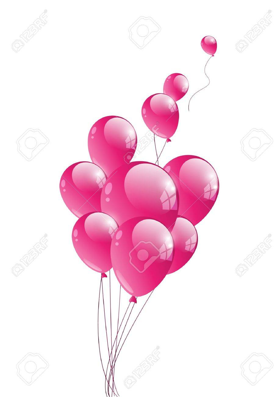Vector illustration of glossy pink balloon Stock Vector - 14812135