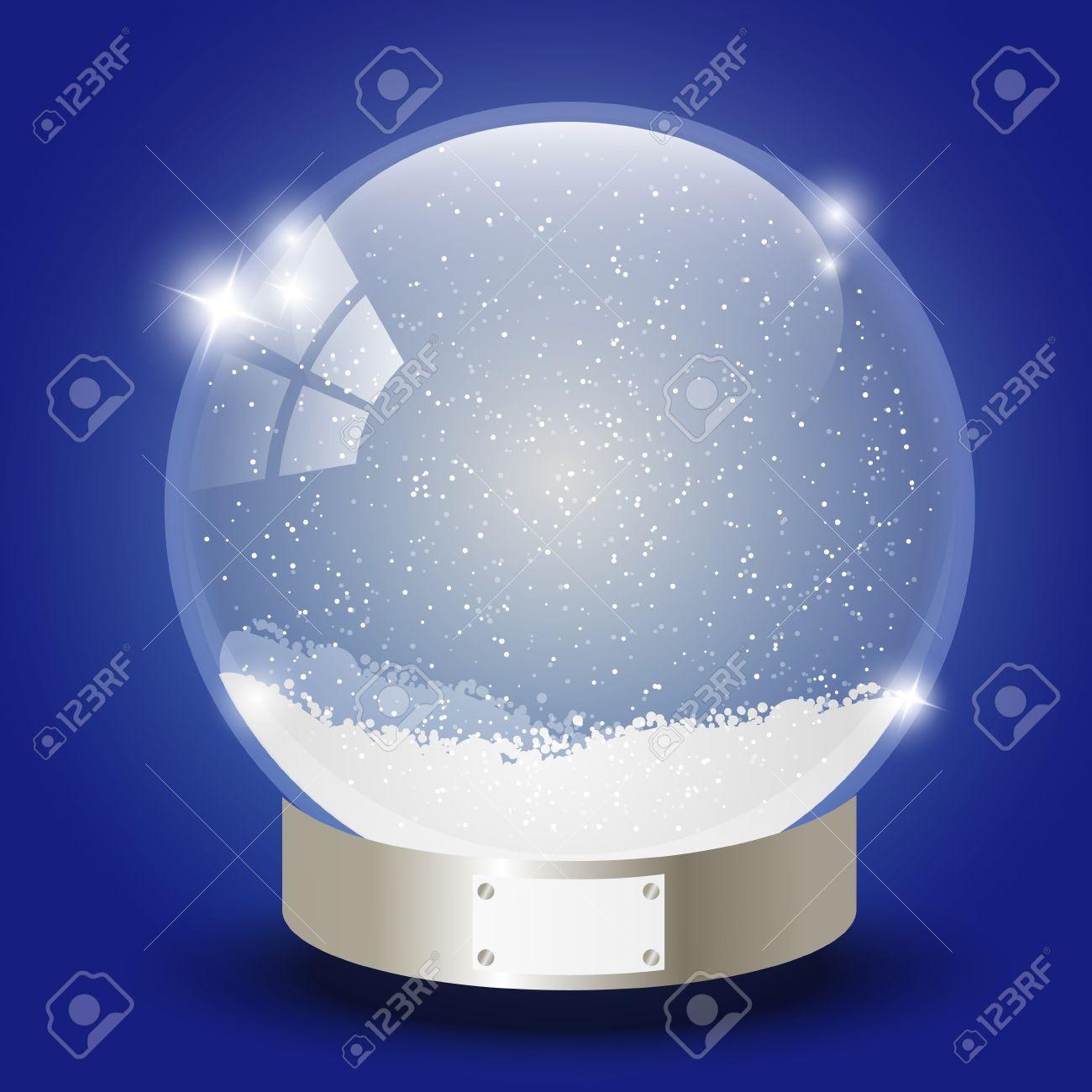 Noël Boule De Verre Avec De La Neige à L'intérieur Clip Art Libres