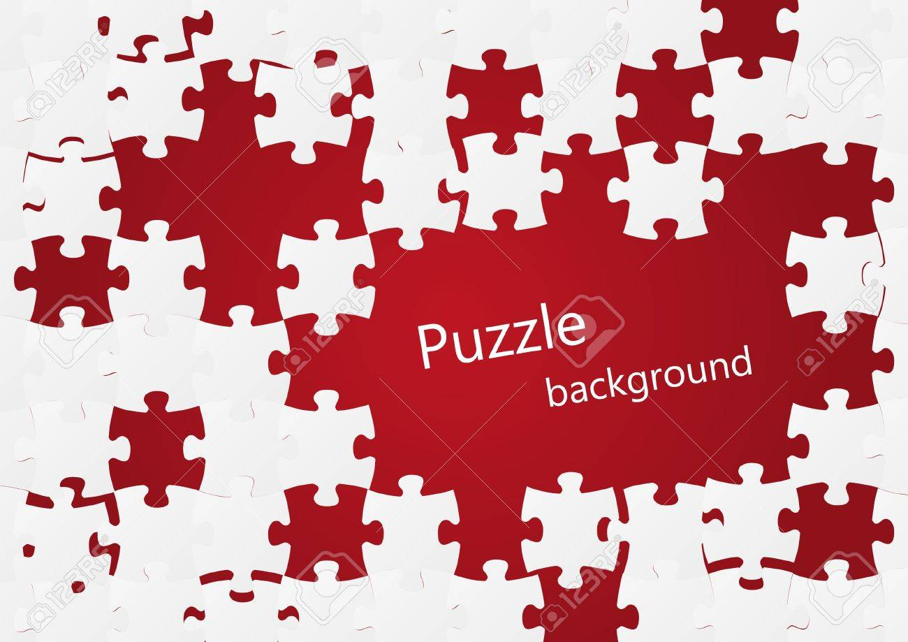 Puzzle background with place for text Stock Vector - 15497055