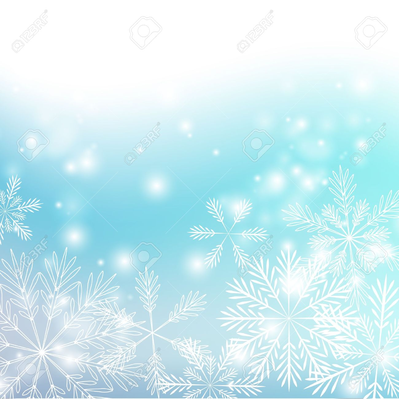 Snowflakes background with shiny lights - 15640017
