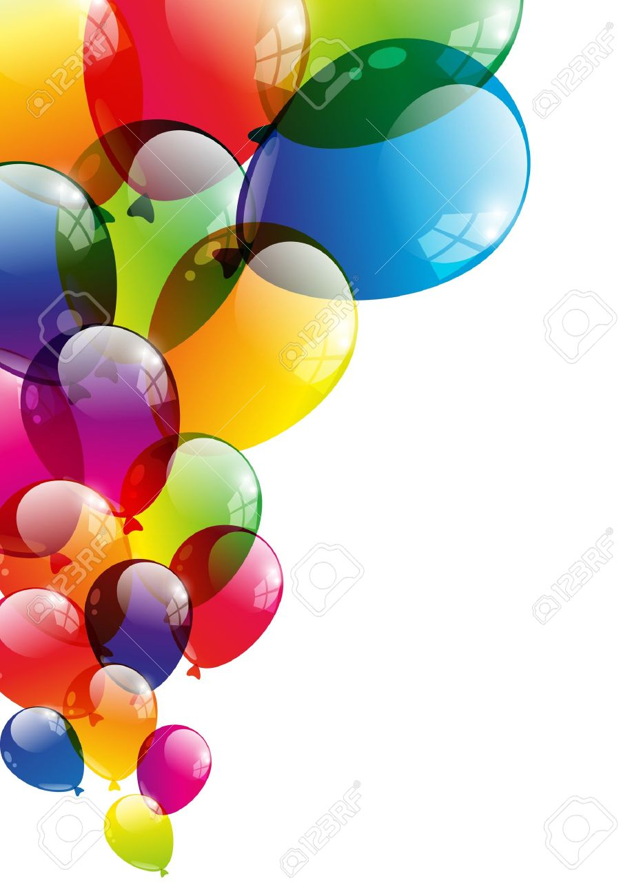 Color background with glossy balloon - 15842074