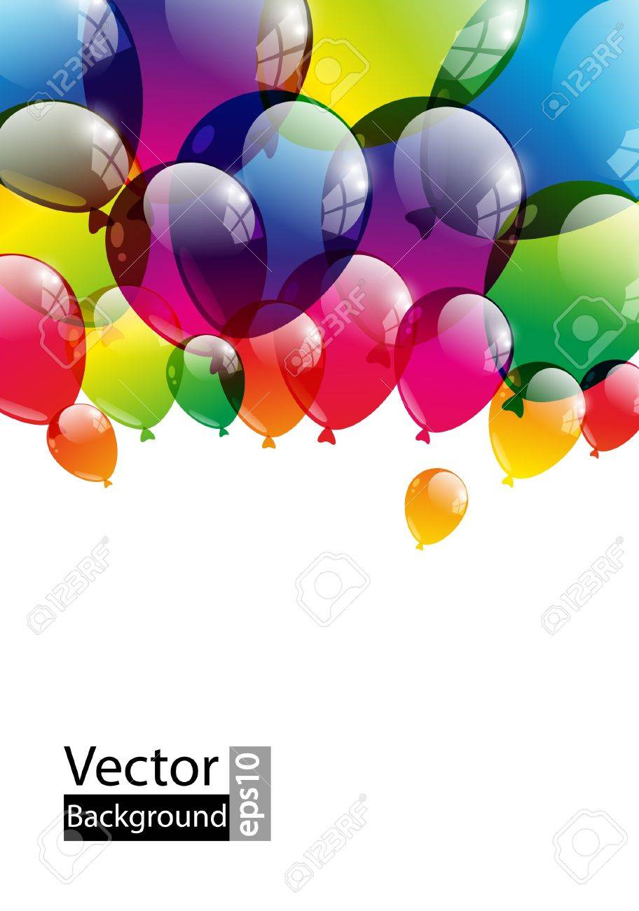 Balloon background with place for text Stock Vector - 15842076
