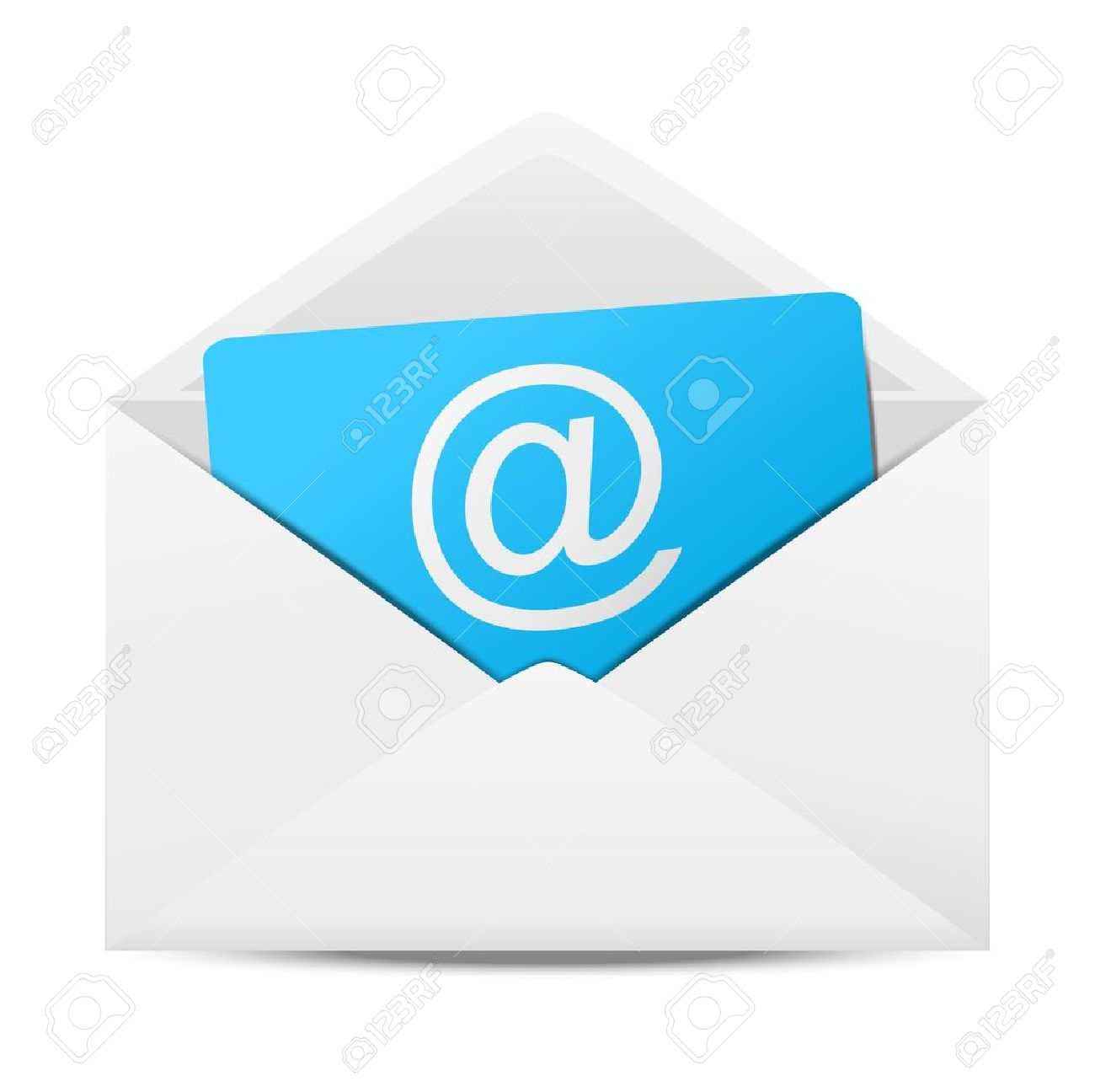 Envelope with paper sheet - concept of email - 15842023