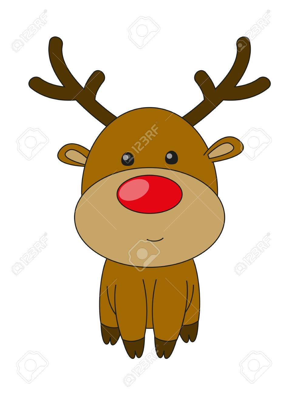 Cute deer isolated on white Stock Vector - 16461570