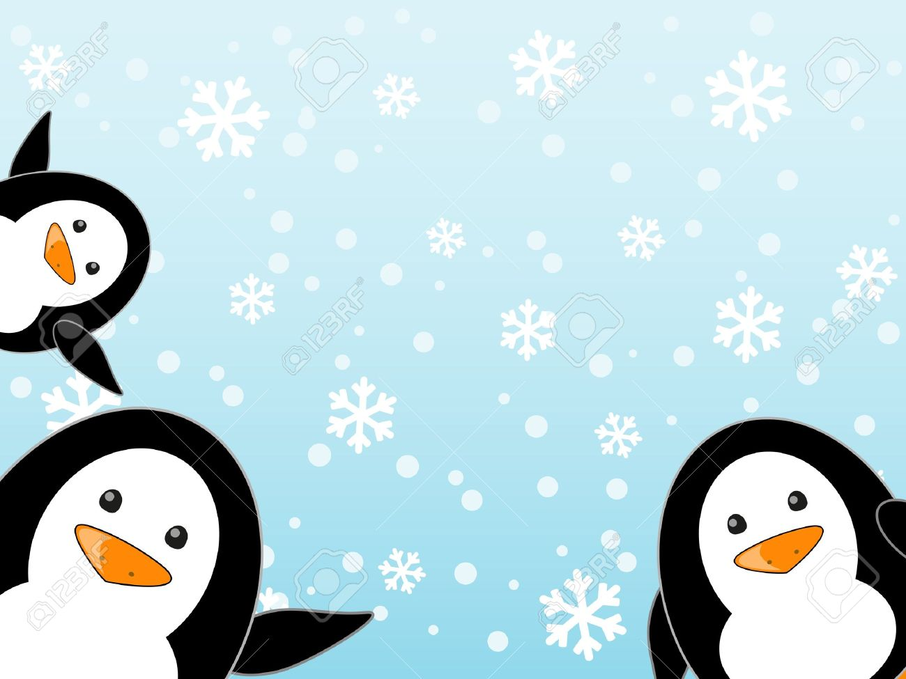Penguin Family On Winter Background Royalty Free Cliparts Vectors And Stock Illustration Image 16703615