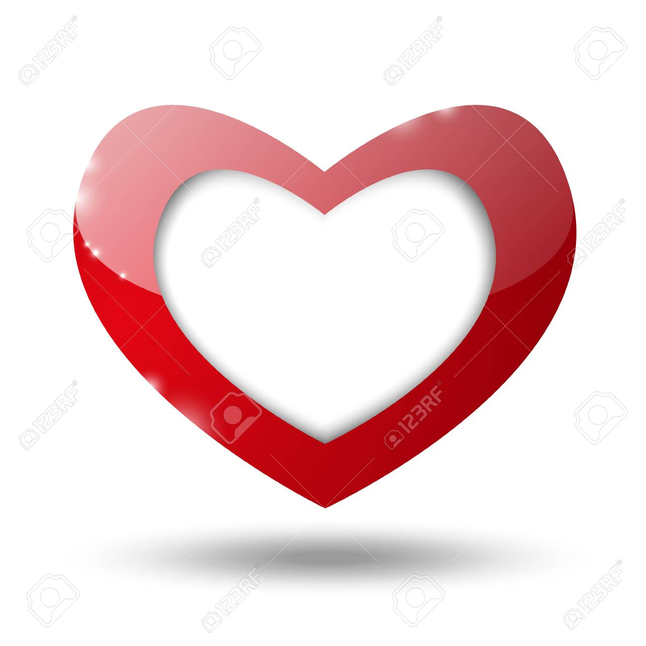 Valentine heart with place for text Stock Photo - 16892883