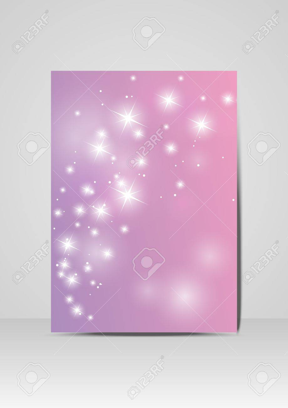 Purple brochure design Stock Vector - 17476277