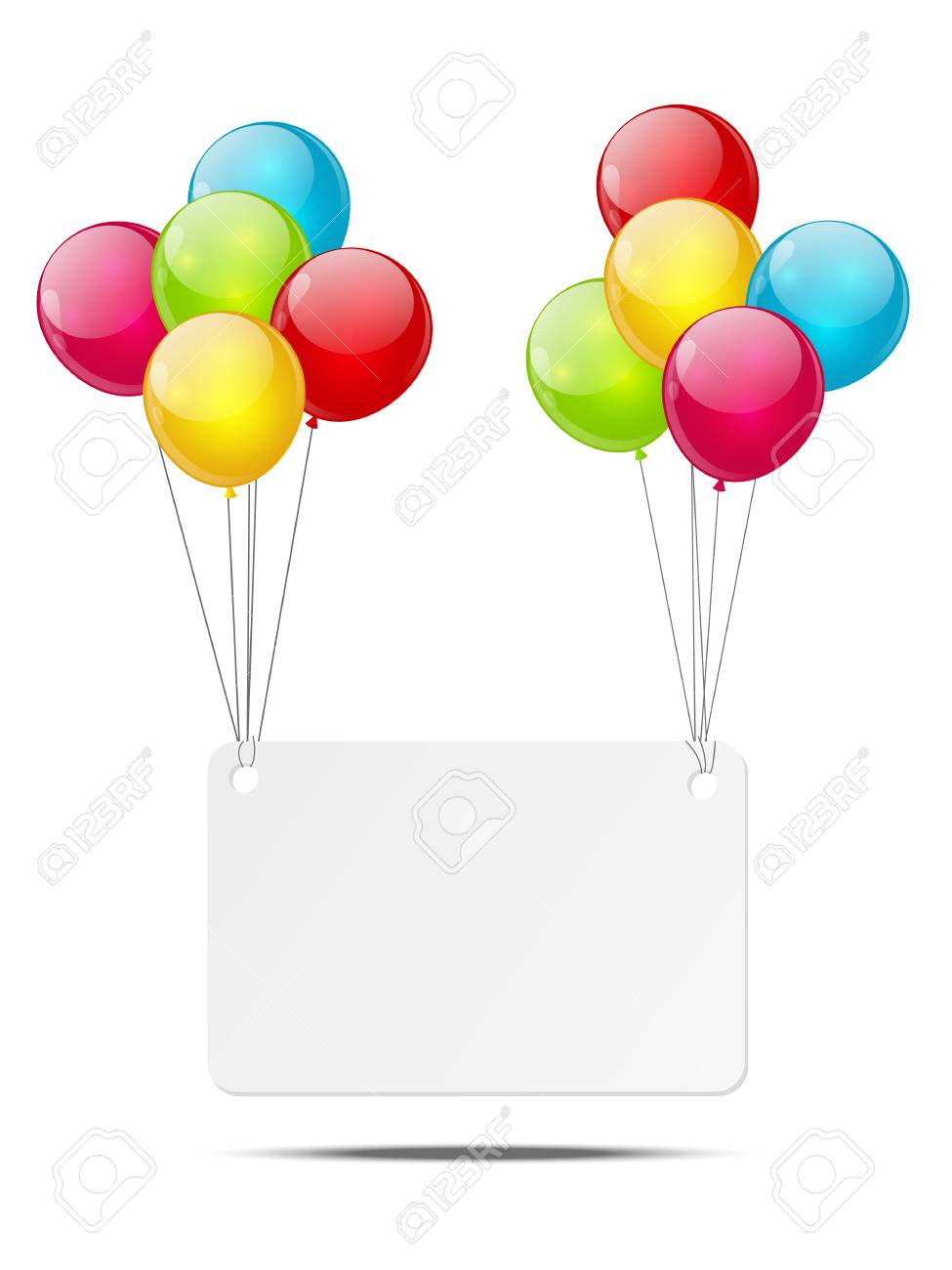 Banner with color glossy balloons Stock Photo - 18268974