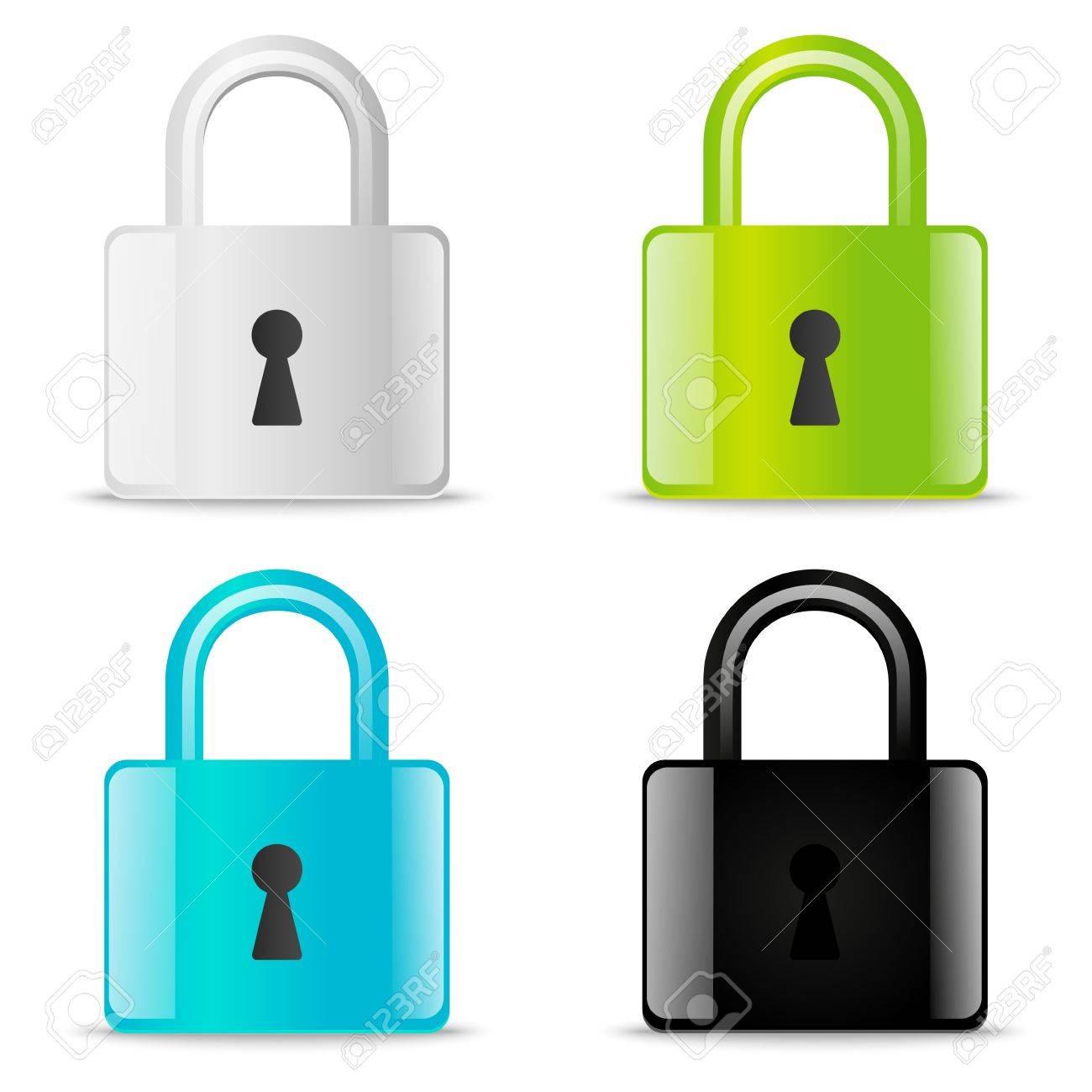 Set of glossy lock icons - 21424154