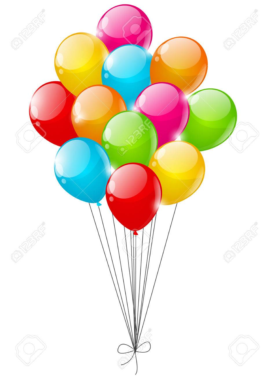 Color balloons on white background - 22599984