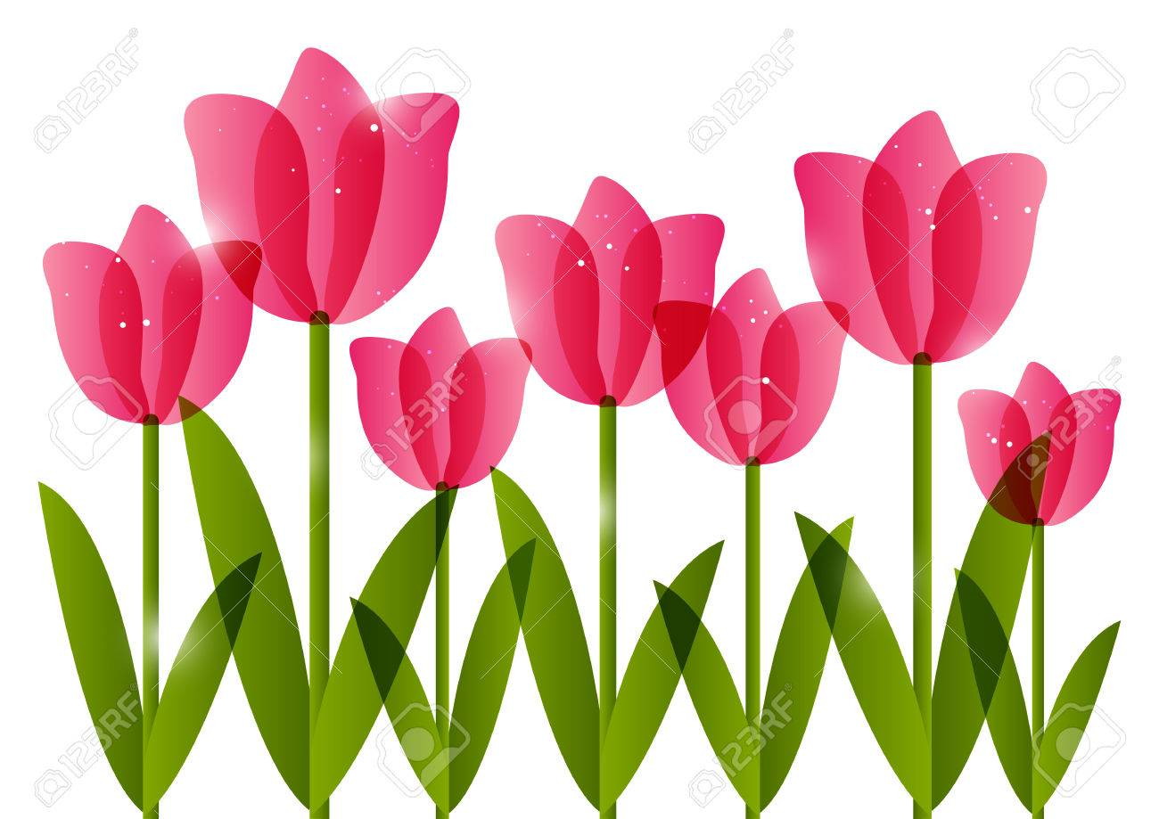 pink tulips border for your design royalty free cliparts vectors rh 123rf com