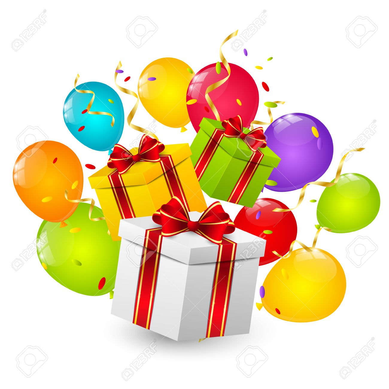 Birthday Gift Boxes Royalty Free Cliparts, Vectors, And Stock ...