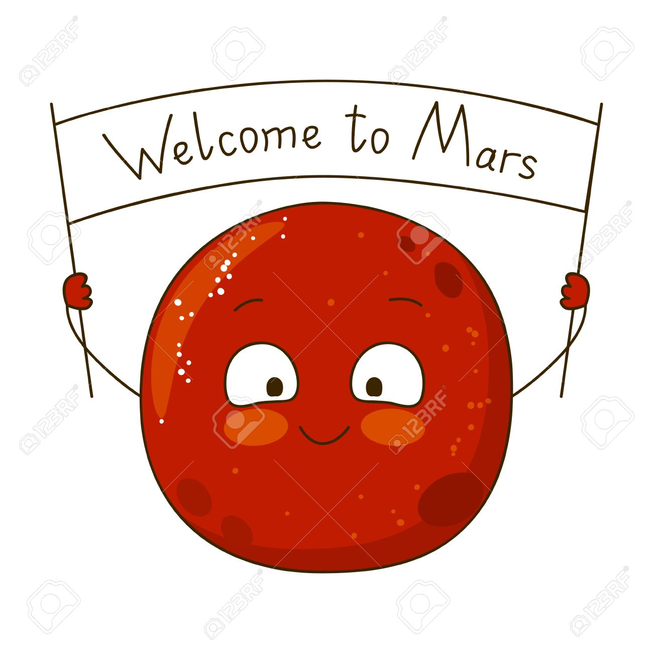 cartoon mars character isolated on white royalty free cliparts rh 123rf com mars clipart black and white planète mars clipart