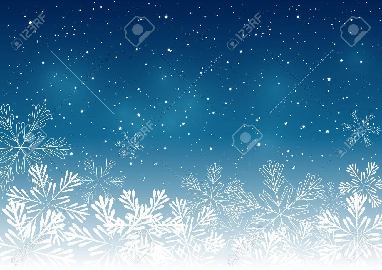 Weihnachten Schneeflocken Hintergrund Für Ihr Design Lizenzfrei ...