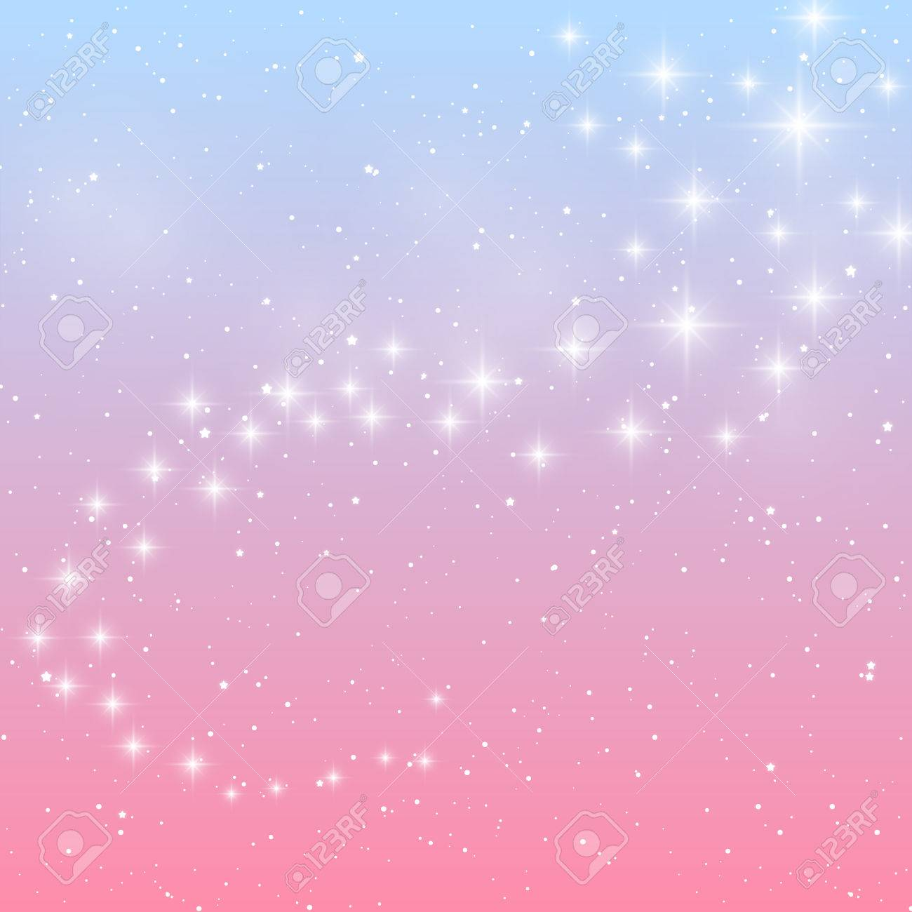 shiny stars on blue and pink background stock vector 50591987