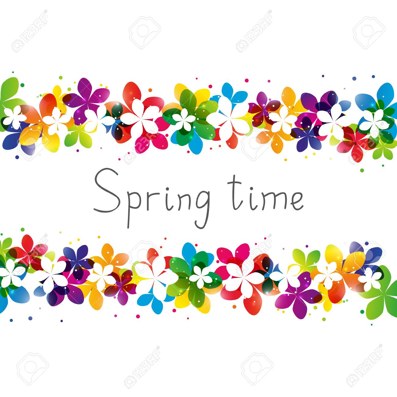 Spring floral border with place for Your text - 53113671