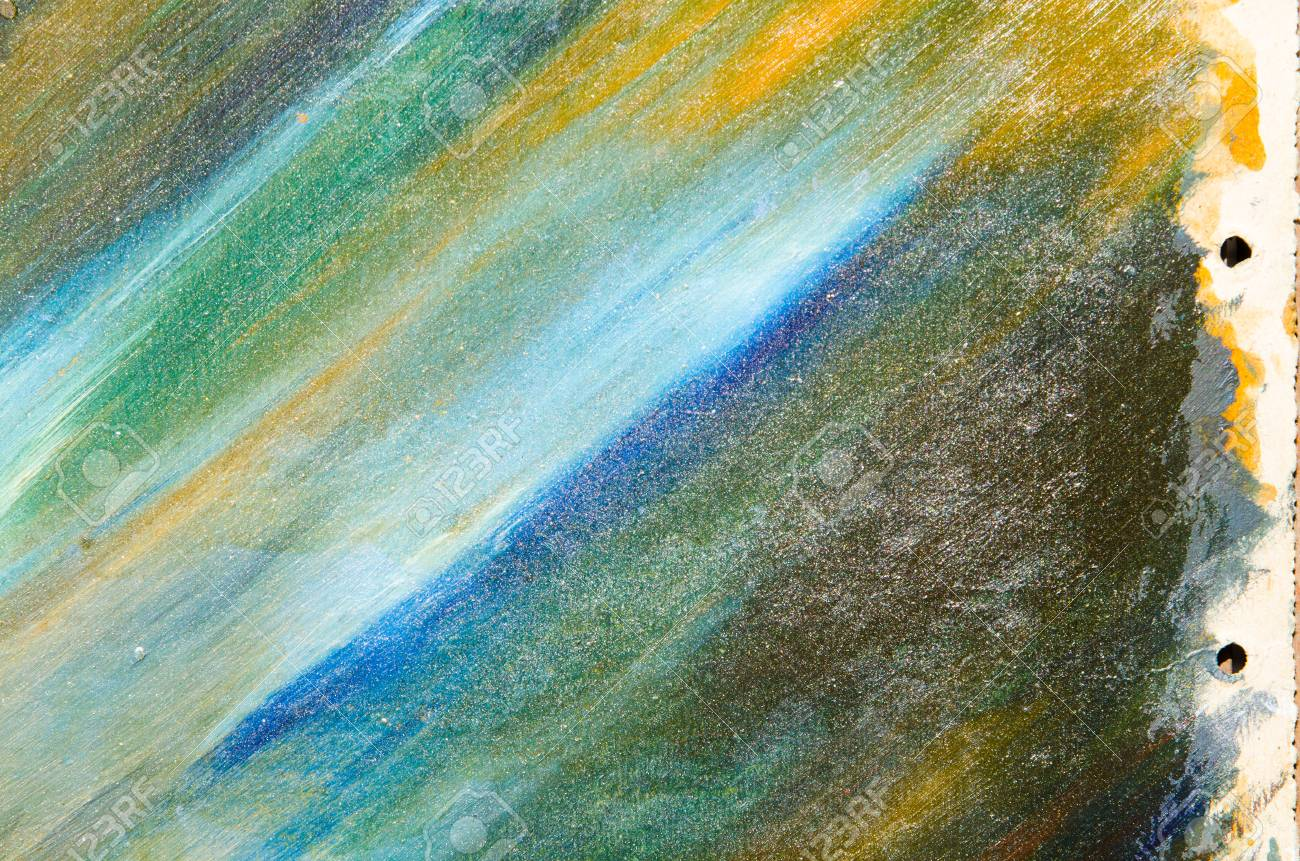 Watercolor Smears On Canvas Texture Colored Blue White Orange