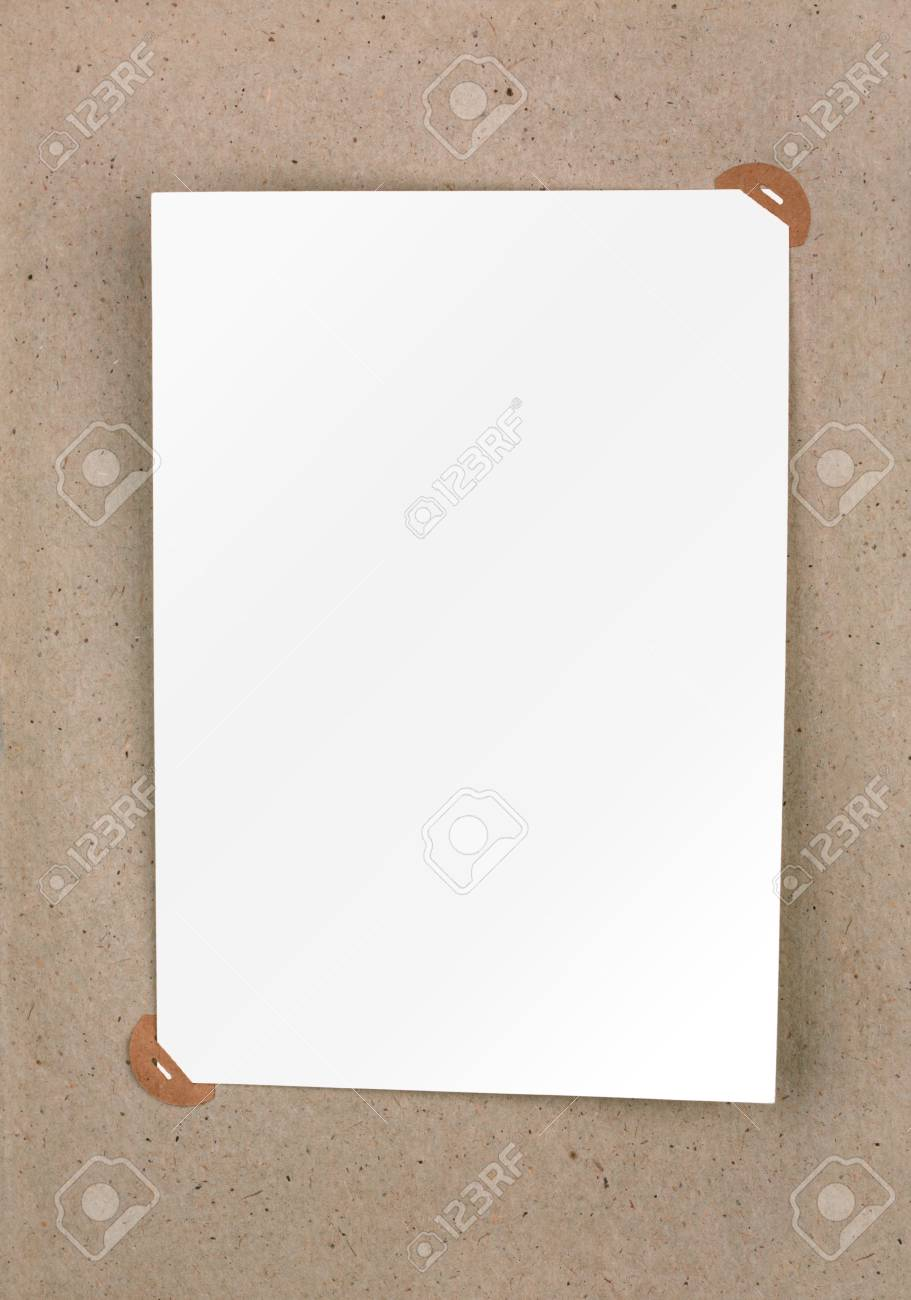 Page of vintage photo album with photo frames Stock Photo - 12515713