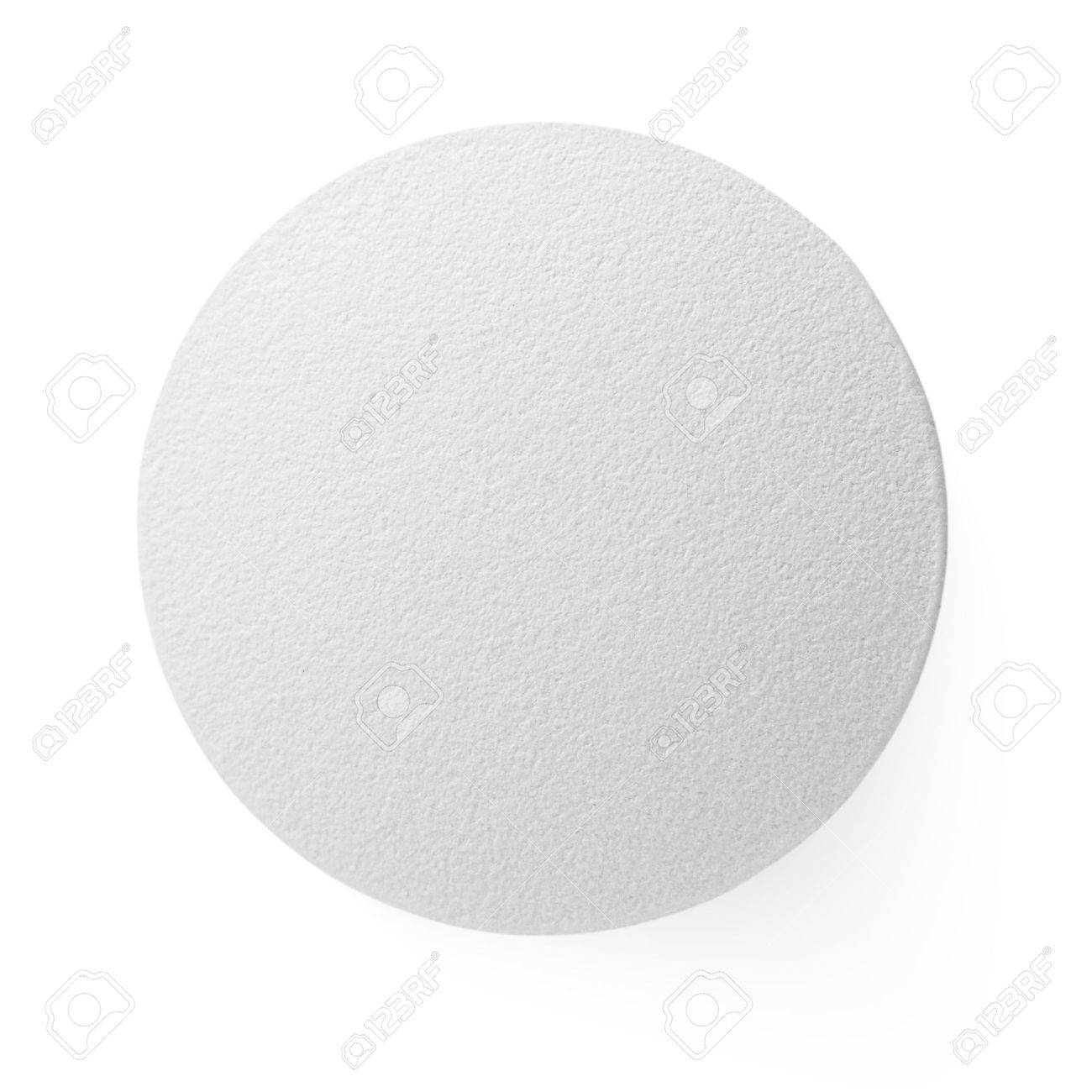 Closeup of medical pill isolated on white background - 12515868