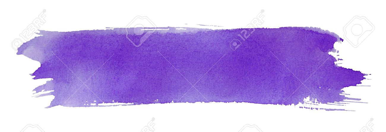 Violet stroke of watercolor paint brush isolated on white Stock Photo - 12803625