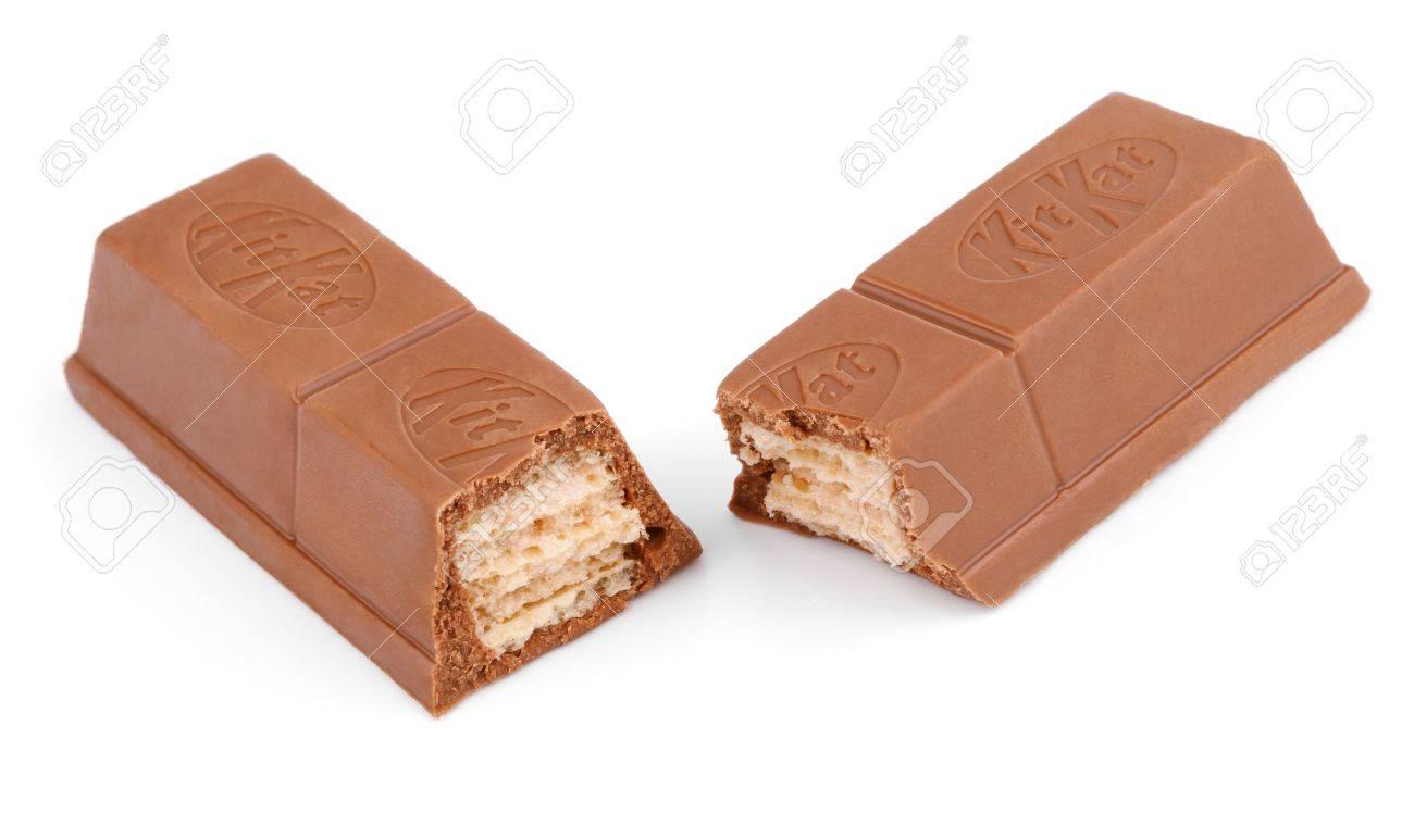 Closeup of kit kat candy chocolate bar made by nestle isolated closeup of kit kat candy chocolate bar made by nestle isolated on white background stock photo voltagebd Images