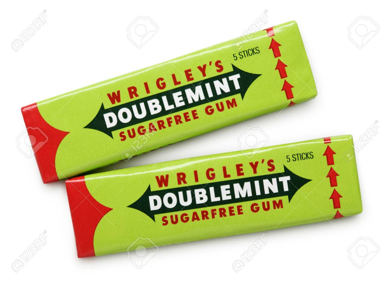 Doublemint chewing gums made by wrigley isolated on white with doublemint chewing gums made by wrigley isolated on white with clipping path stock photo 28087030 buycottarizona Images