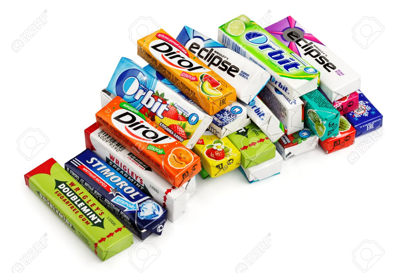 Heap of various brand chewing or bubble gum including orbit stock heap of various brand chewing or bubble gum including orbit dirol eclipse stimorol buycottarizona Images
