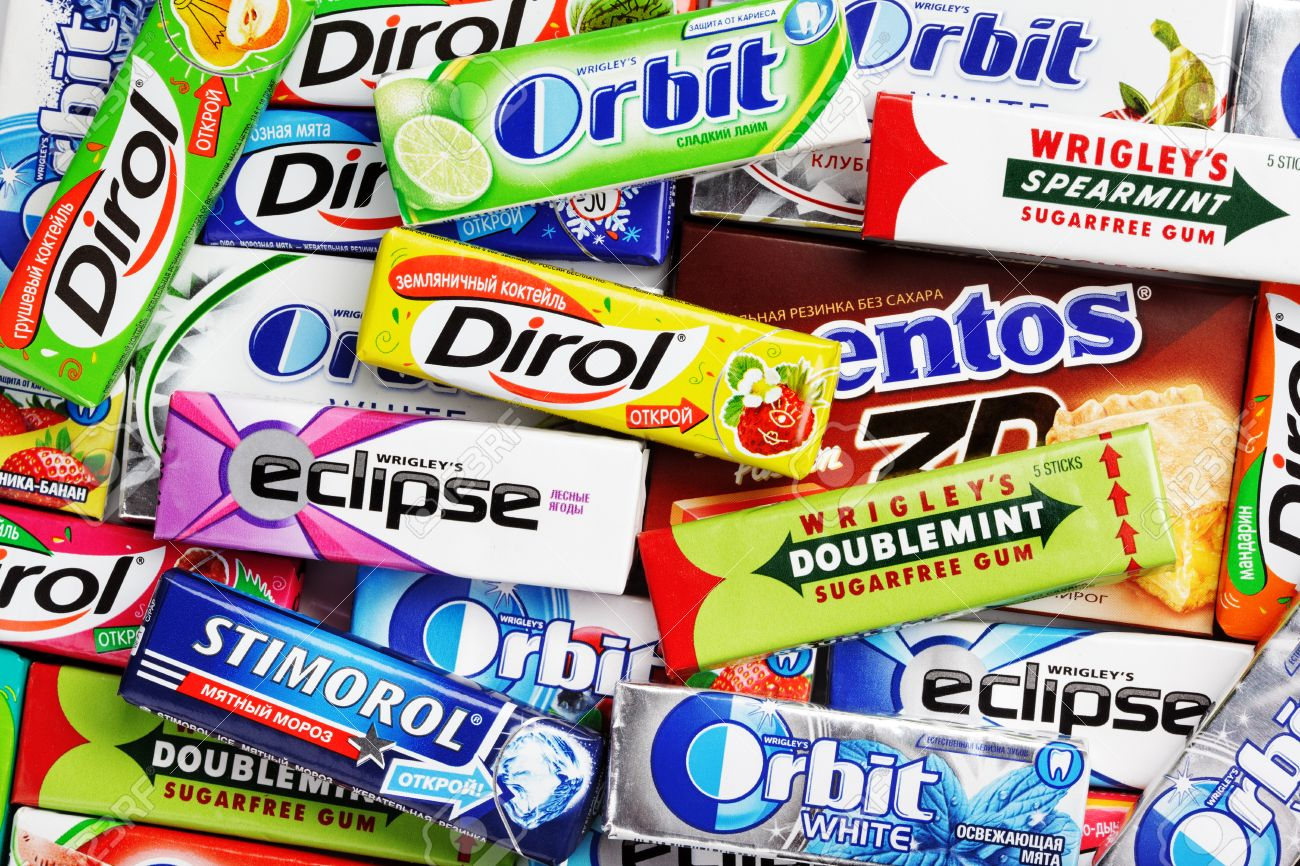 Many various colorful chewing or bubble gum including orbit stock many various colorful chewing or bubble gum including orbit dirol eclipse stimorol buycottarizona Images