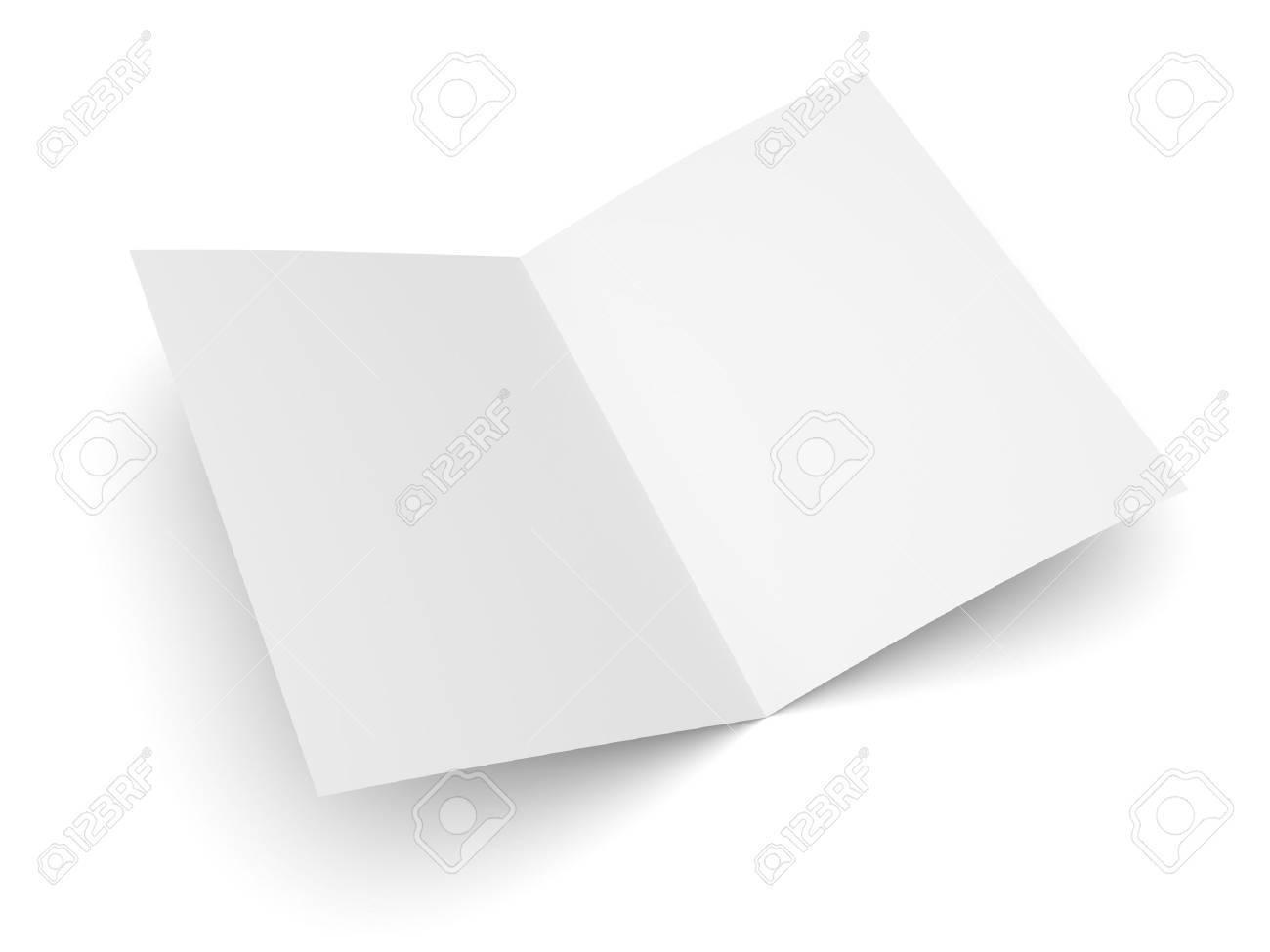 Blank Gefaltet Flyer, Broschüre, Postkarte, Visitenkarte Oder ...
