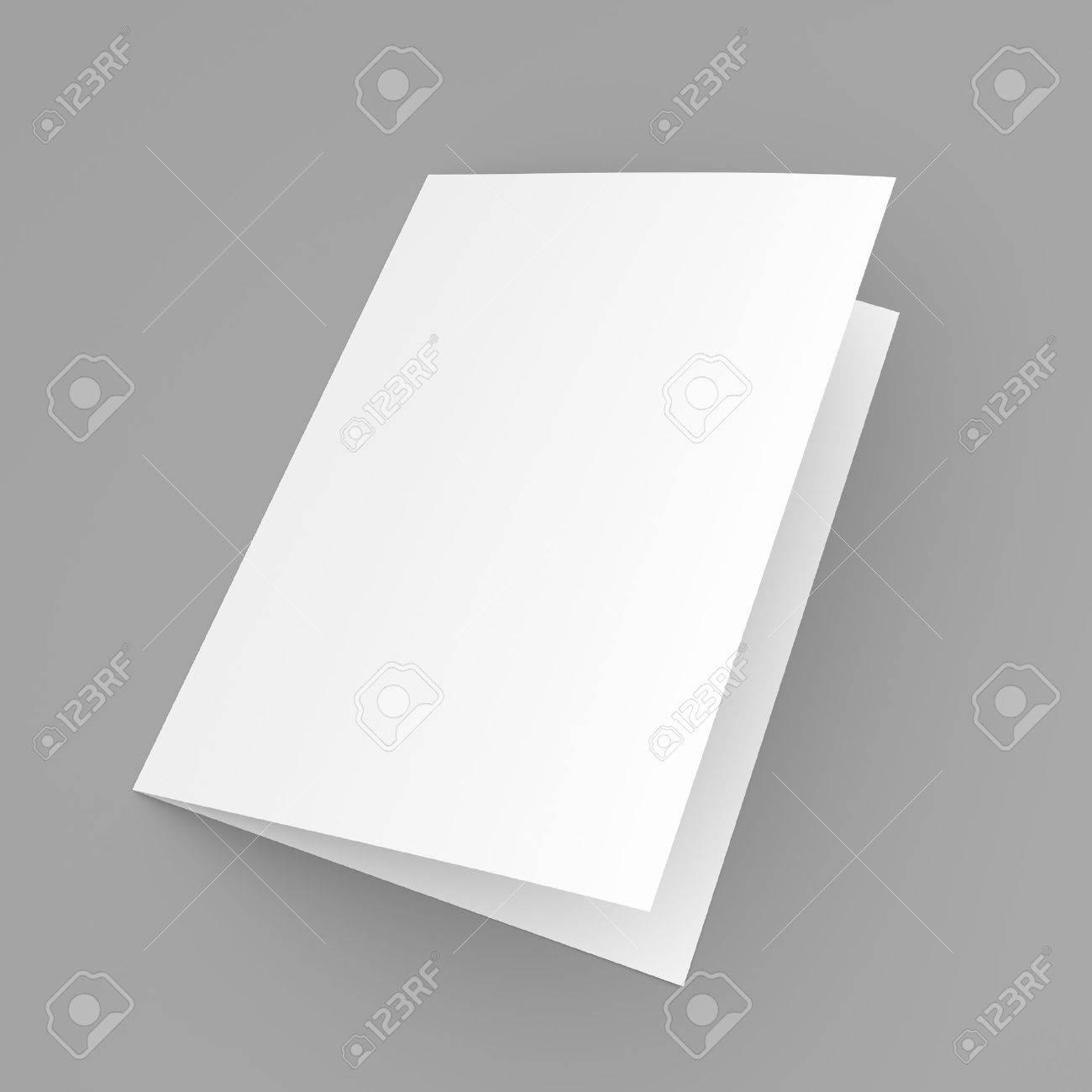 Blank Folded Flyer Booklet Postcard Business Card Or Brochure - Brochure mockup template