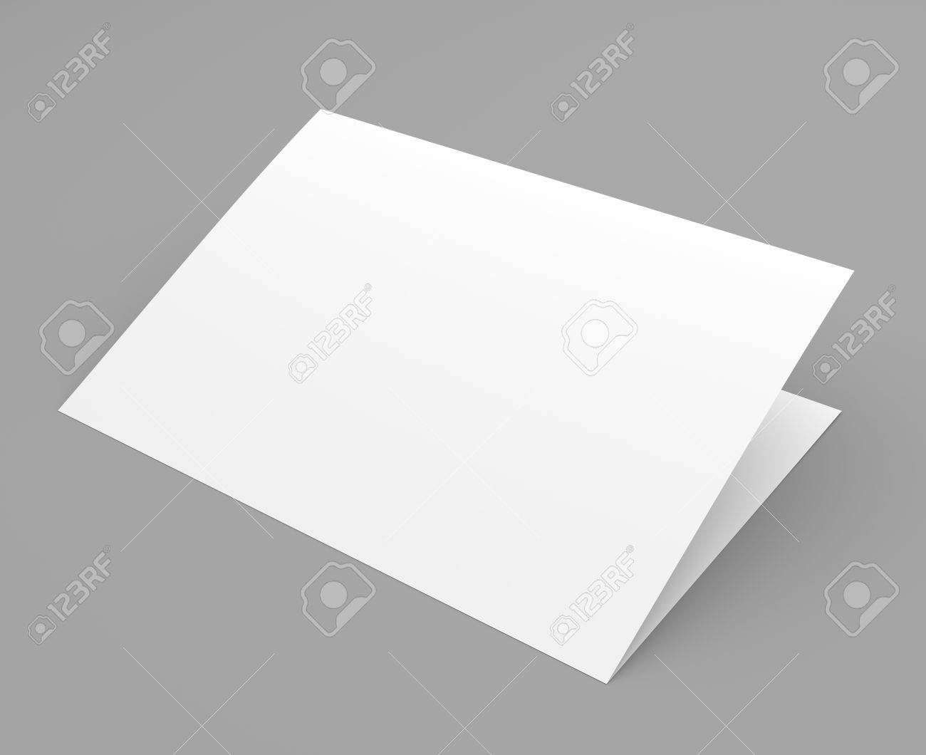 Blank folded flyer booklet postcard business card or brochure blank folded flyer booklet postcard business card or brochure mockup template on grey magicingreecefo Gallery