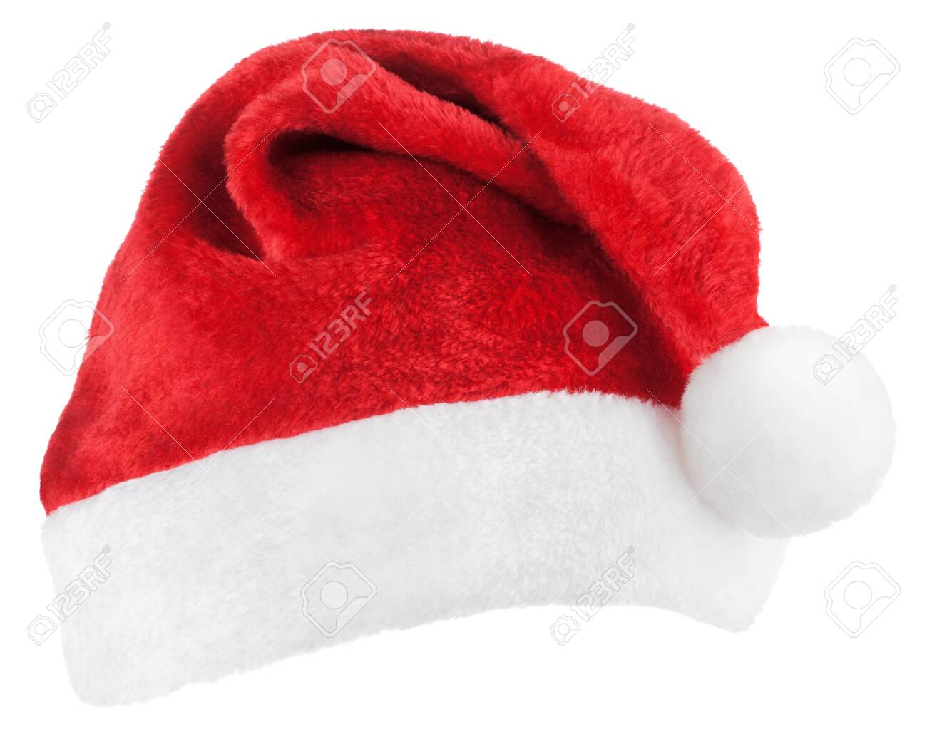 Santa Claus or christmas red hat isolated on white background - 130723641
