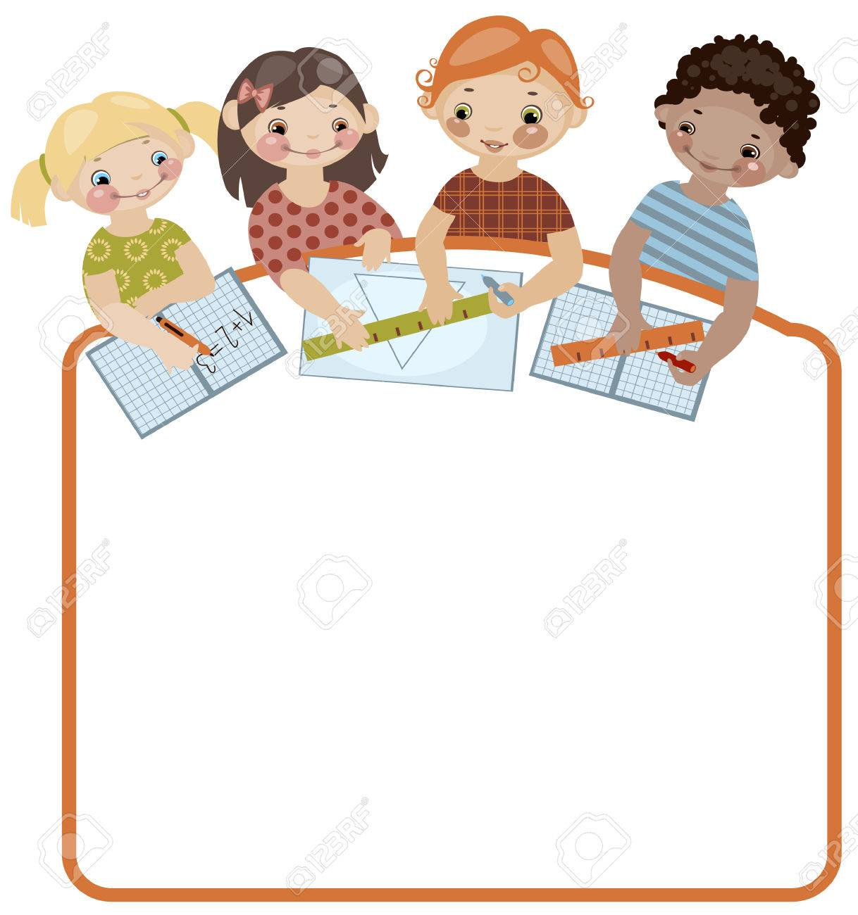 School childhood. Place for your text. classes. Similar in a portfolio Stock Vector - 8789044