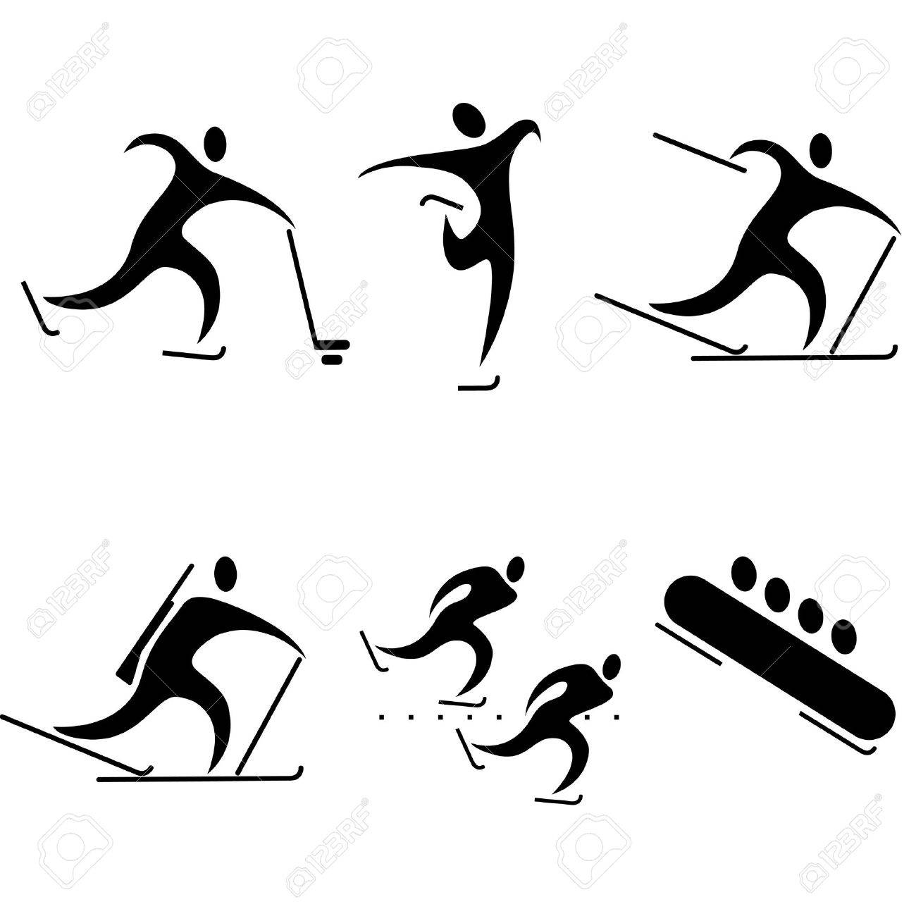 Set Of Sports Icons. Winter Sports, The Sports Competition ...