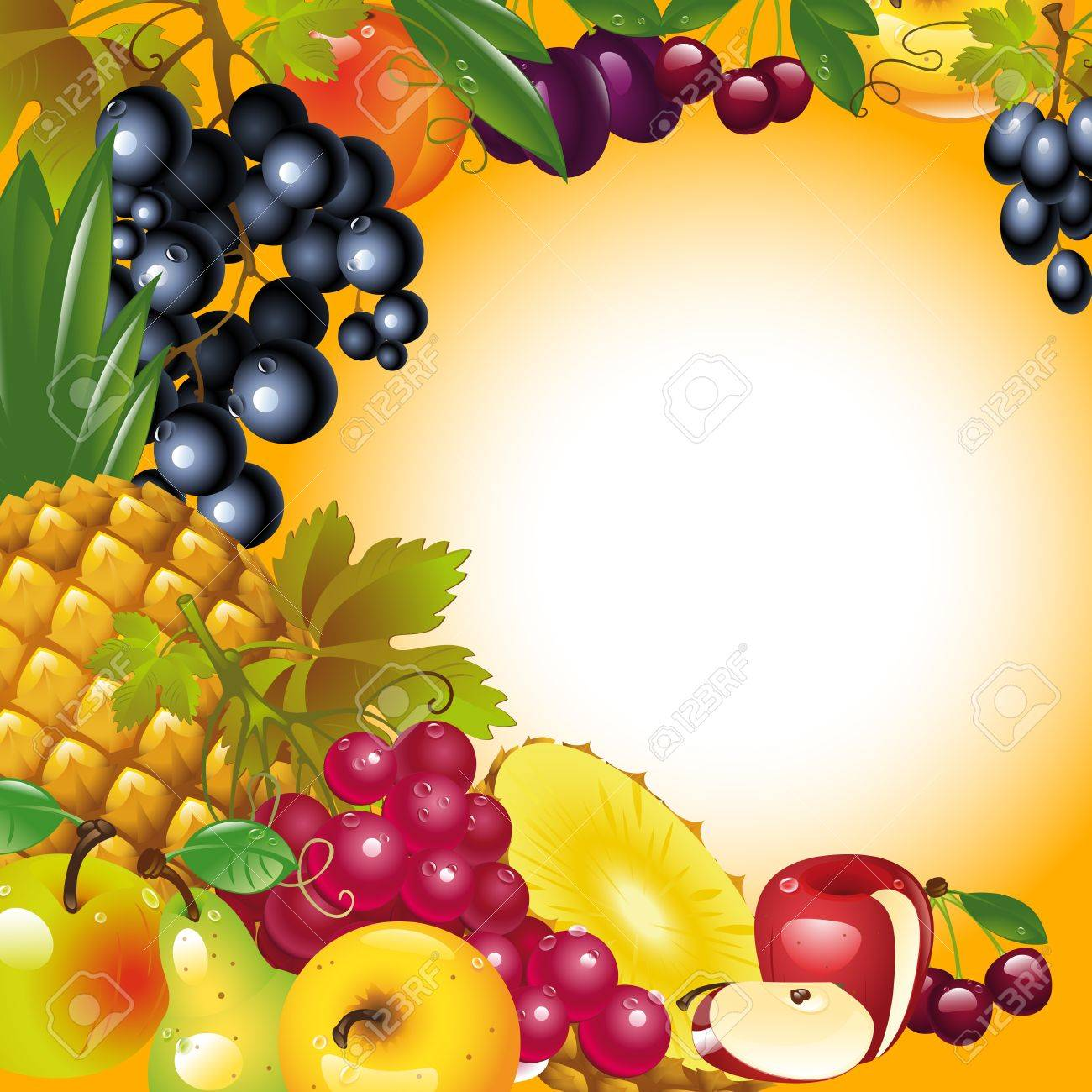 Thanksgiving Card. Banner To Thanksgiving. Fruit Background ...