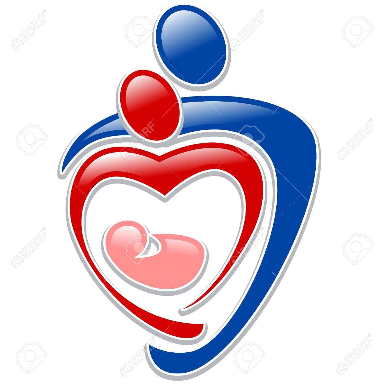 icon person - symbol family holding hands in the shape of a heart - 11988451