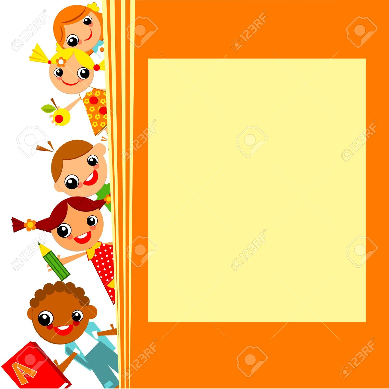school children's yellow background. Place for text - 21394487