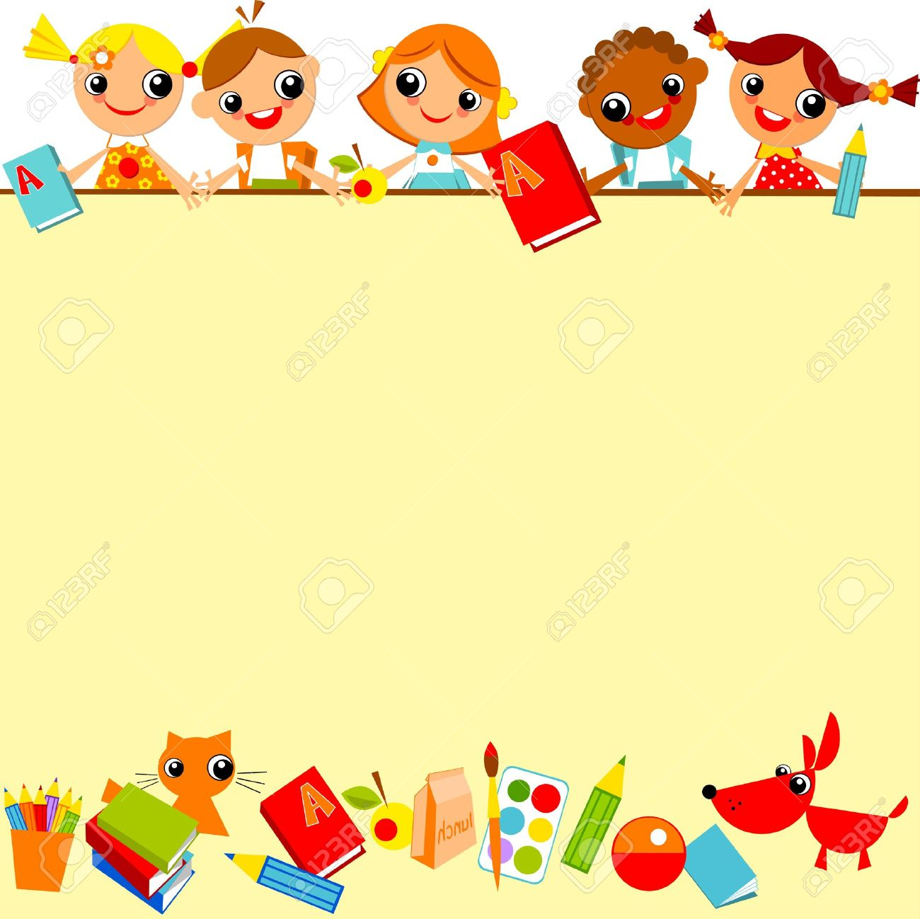 school children's yellow background. Place for text - 21394488