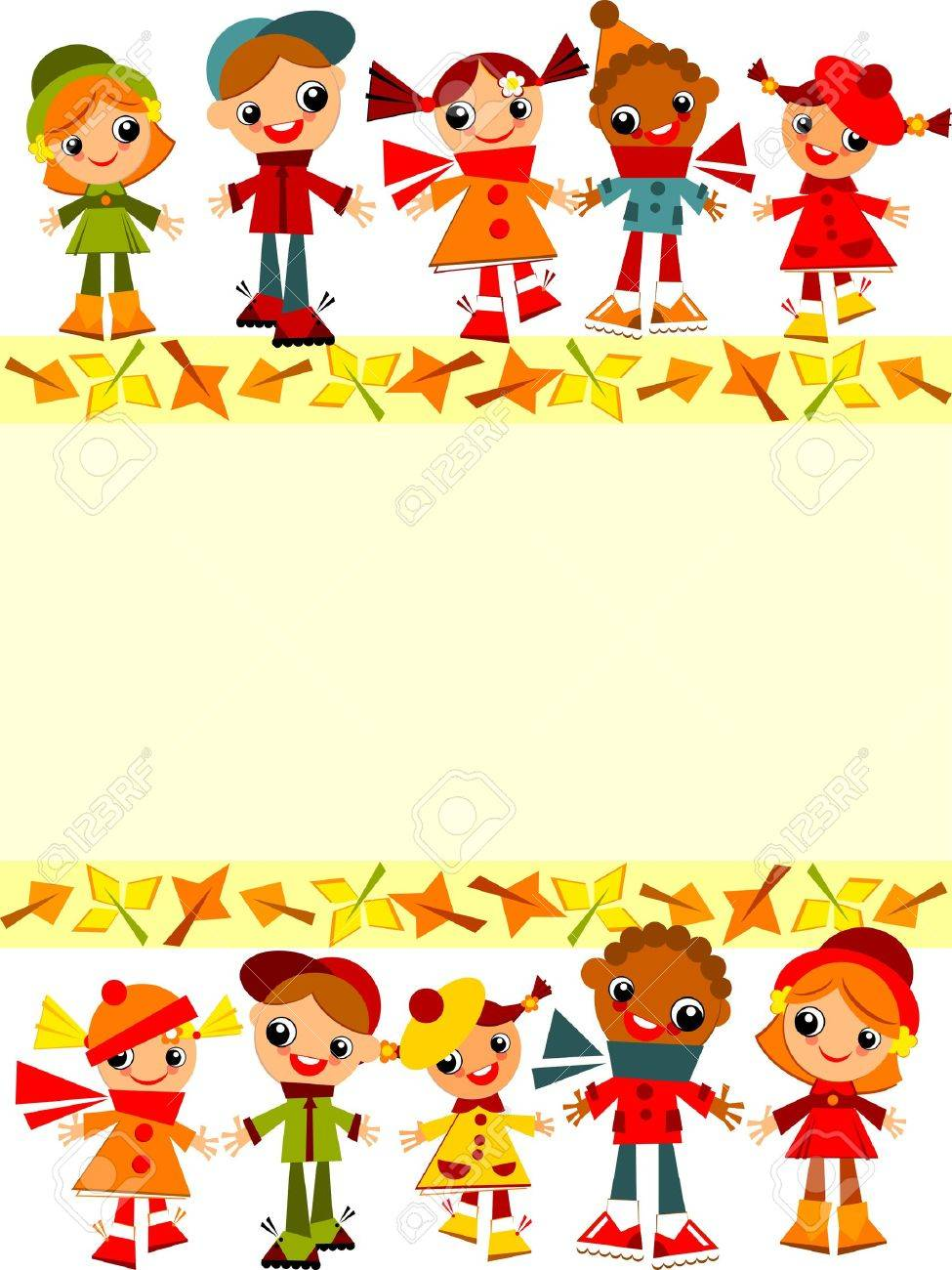 school children's yellow background. Place for text - 21394489